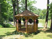 Weddings or just kissing are both fine in our private gazebo!